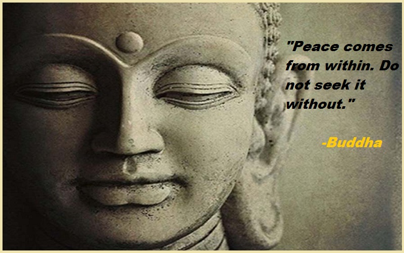 """Peace comes from within. Do not seek it without."""