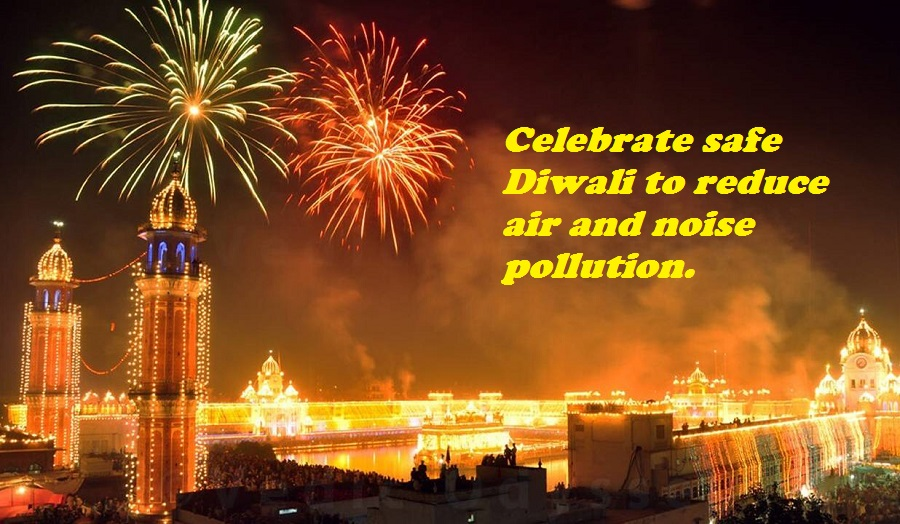 Celebrate safe Diwali to reduce air and noise pollution.