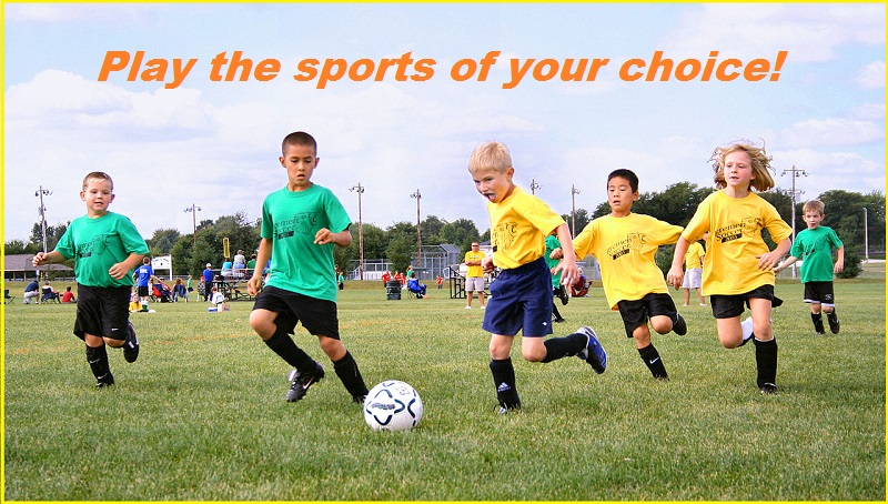 Play the sports of your choice