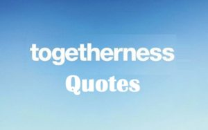 Motivational Togetherness Quotes And Sayings