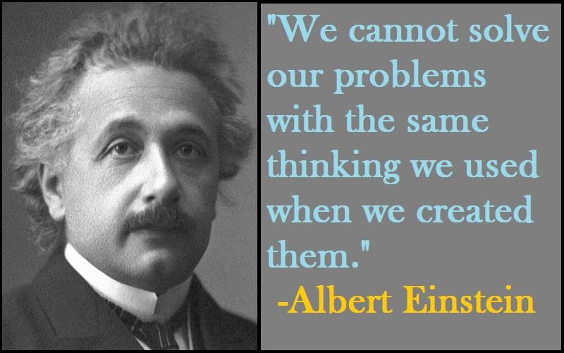 Albert Einstein Thinking Quotes