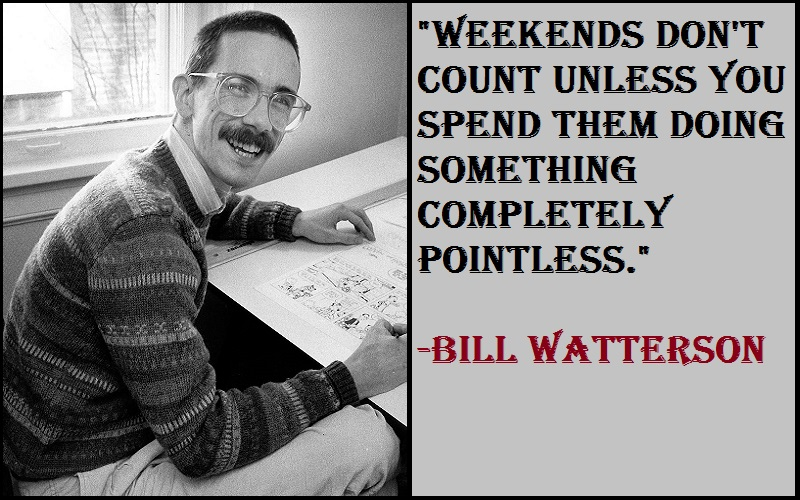 Bill Watterson The Weekend Quotes