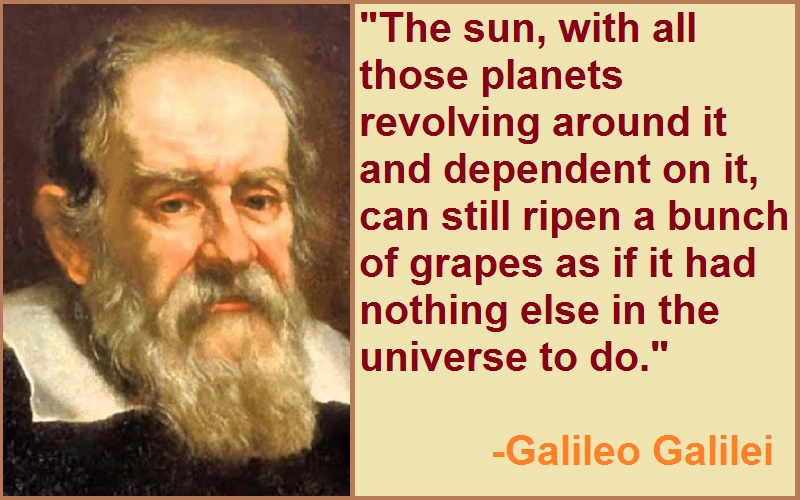 Galileo Galilei The Sun Quotes