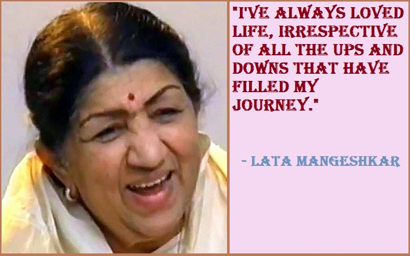Motivational Lata Mangeshkar Quotes & Sayings