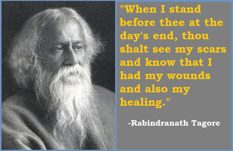 Rabindranath Tagore Time Heals Quotes