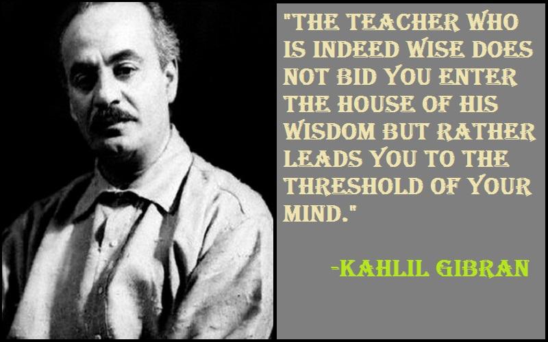 Kahlil Gibran Teacher Retirement Quotes