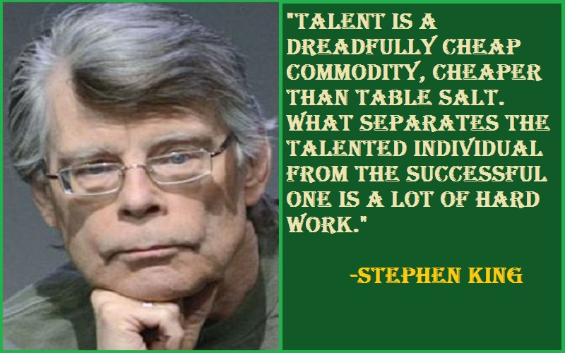 Stephen King Talent Quotes