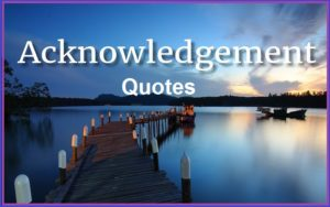 Motivational Acknowledgement Quotes