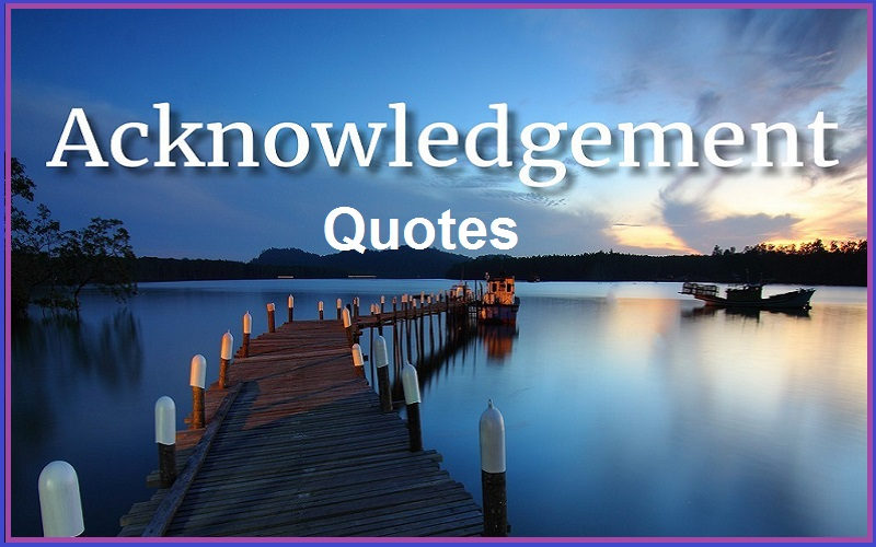 Read more about the article Motivational Acknowledgement Quotes and Sayings
