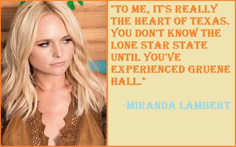 Miranda Lambert Texas Quotes