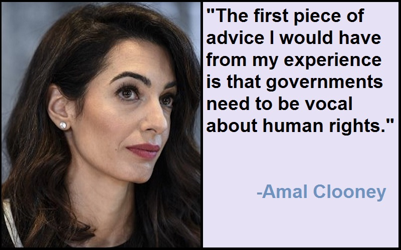 Inspirational Amal Clooney Quotes