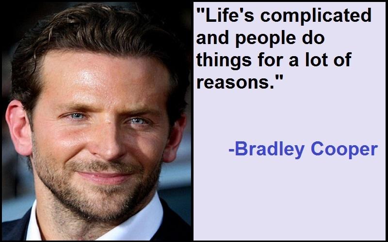 Inspirational Bradley Cooper Quotes