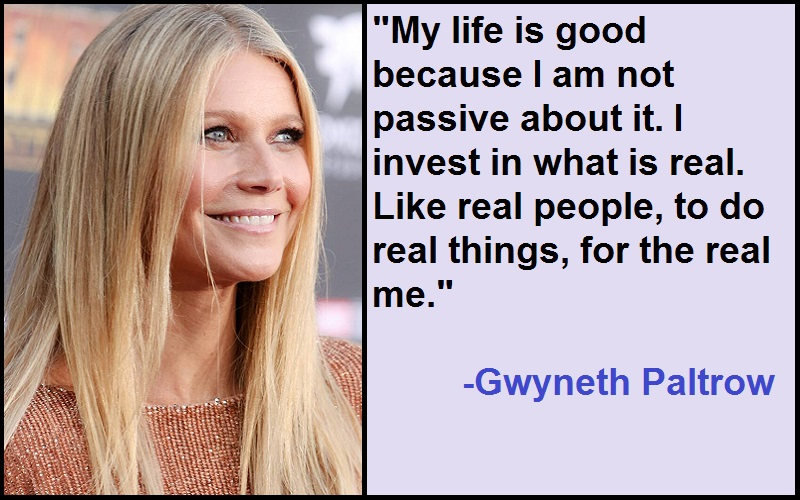 Inspirational Gwyneth Paltrow Quotes