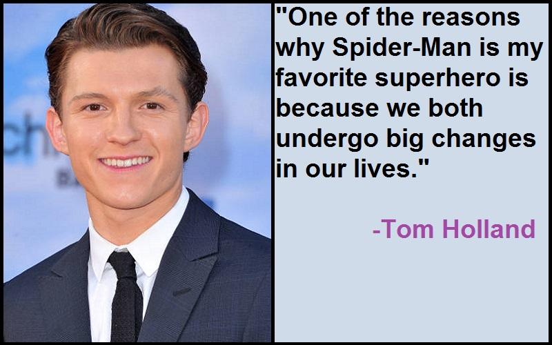 Inspirational Tom Holland Quotes