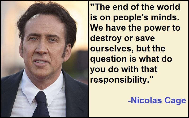 Inspirational Nicolas Cage Quotes