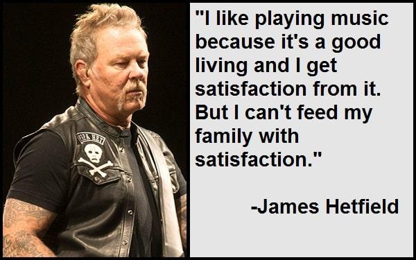 Inspirational James Hetfield Quotes