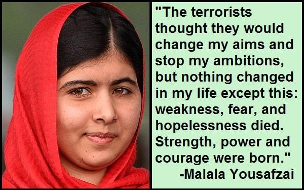 Inspirational Malala Yousafzai Quotes