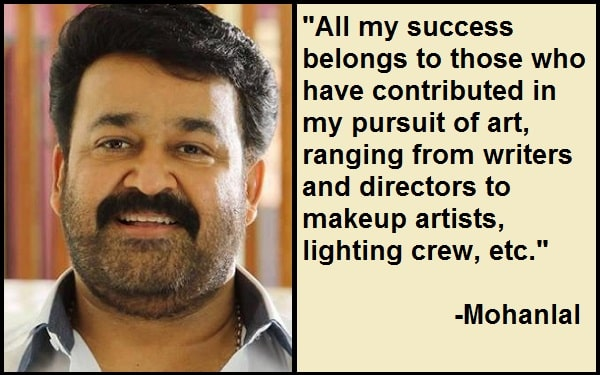 Inspirational Mohanlal Quotes