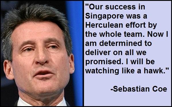 Inspirational Sebastian Coe Quotes