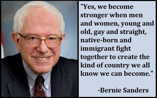 Inspirational Bernie Sanders Quotes