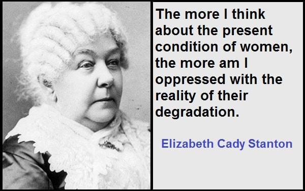 Inspirational Elizabeth Cady Stanton Quotes