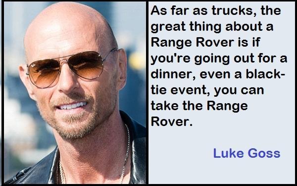 Inspirational Luke Goss Quotes