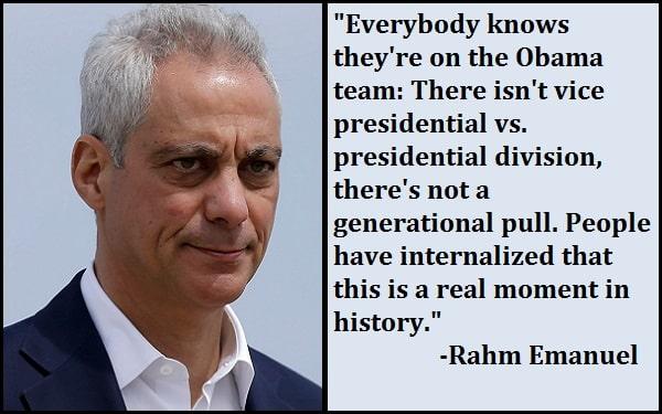 Inspirational Rahm Emanuel Quotes