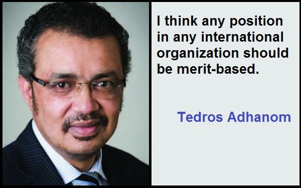 Inspirational Tedros Adhanom Quotes