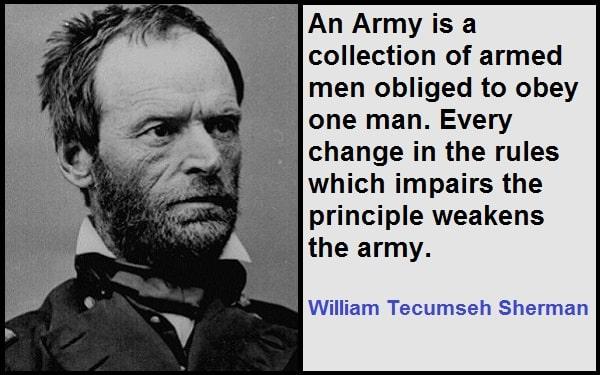 Inspirational William Tecumseh Sherman Quotes