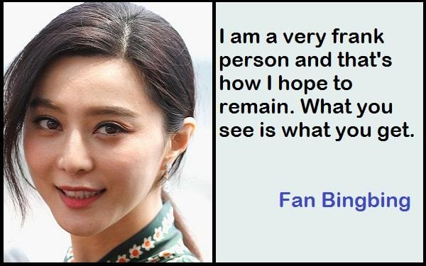 Inspirational Fan Bingbing Quotes