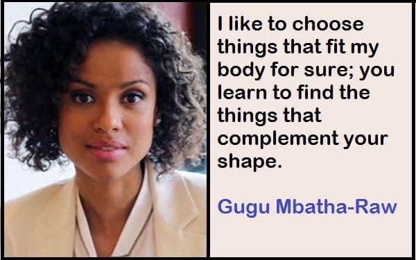 Inspirational Gugu Mbatha-Raw Quotes