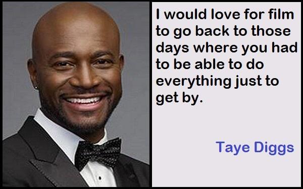 Inspirational Taye Diggs Quotes