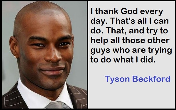 Inspirational Tyson Beckford Quotes
