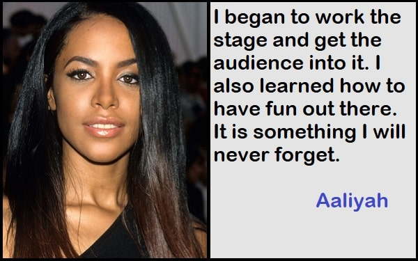 Inspirational Aaliyah Quotes