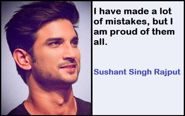 Inspirational Sushant Singh Rajput Quotes