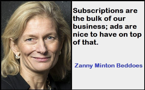 Inspirational Zanny Minton Beddoes Quotes