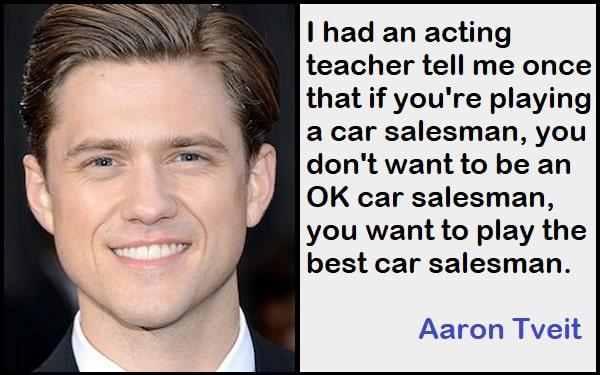 Inspirational Aaron Tveit Quotes
