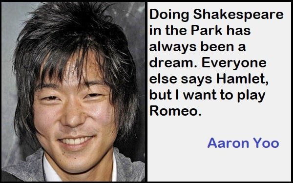 Inspirational Aaron Yoo Quotes