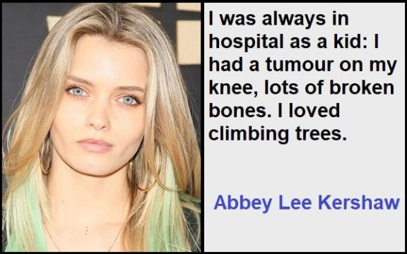 Inspirational Abbey Lee Kershaw Quotes