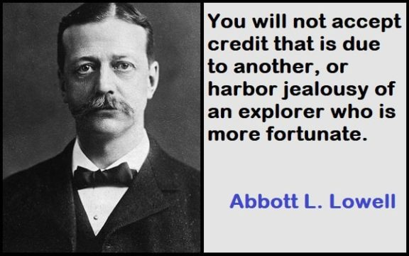 Inspirational Abbott L. Lowell Quotes
