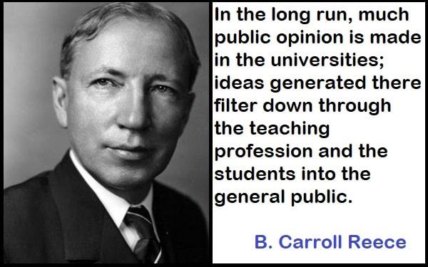 Inspirational B. Carroll Reece Quotes