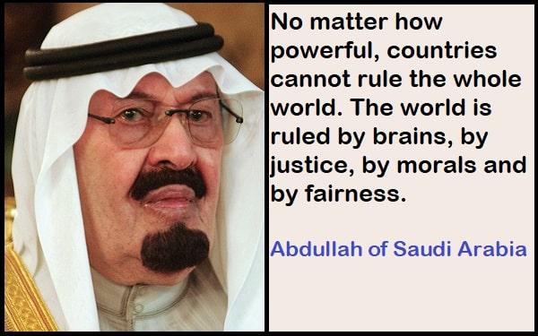 Inspirational Abdullah of Saudi Arabia Quotes