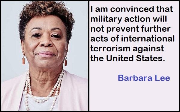 Inspirational Barbara Lee Quotes