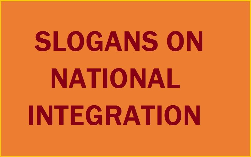 UNIQUE AND CATCHY SLOGANS ON NATIONAL INTEGRATION DAY